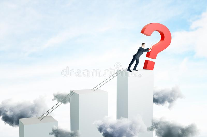 Confusion and solution concept stock illustration