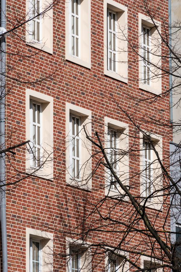 Side wall of building development stock image