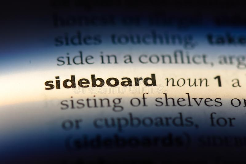 sideboard fotografia stock libera da diritti