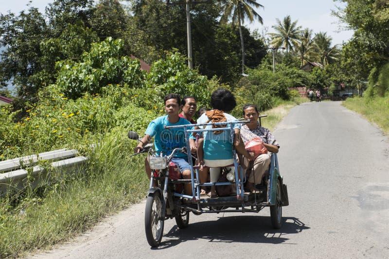 sidecar l'indonesia fotografia stock libera da diritti