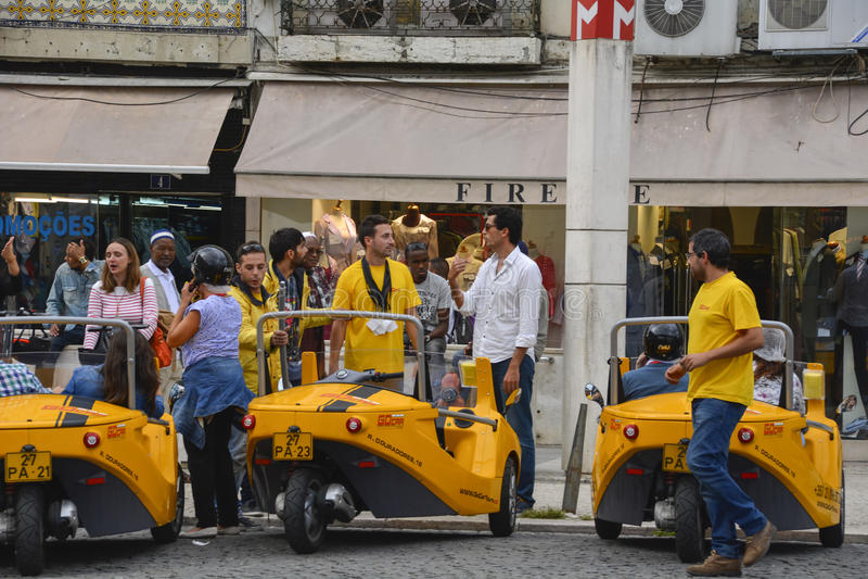 3 Sidecars мотоцилк Уилера в Лиссабоне стоковое изображение rf