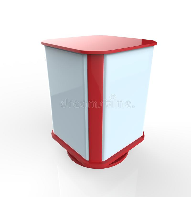 3 sided 3D Outdoor Advertising POS stock illustration