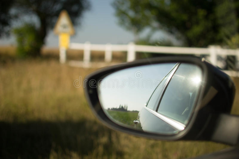 Sidemirror van een auto royalty-vrije stock foto