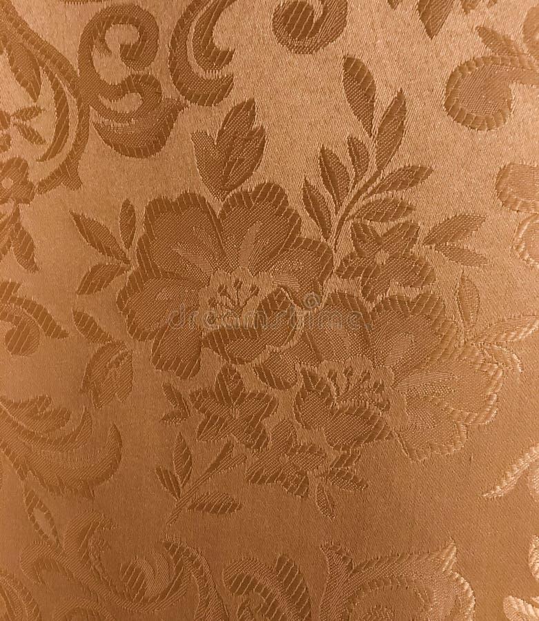 Siden- bakgrund för blommatygtextur royaltyfri foto