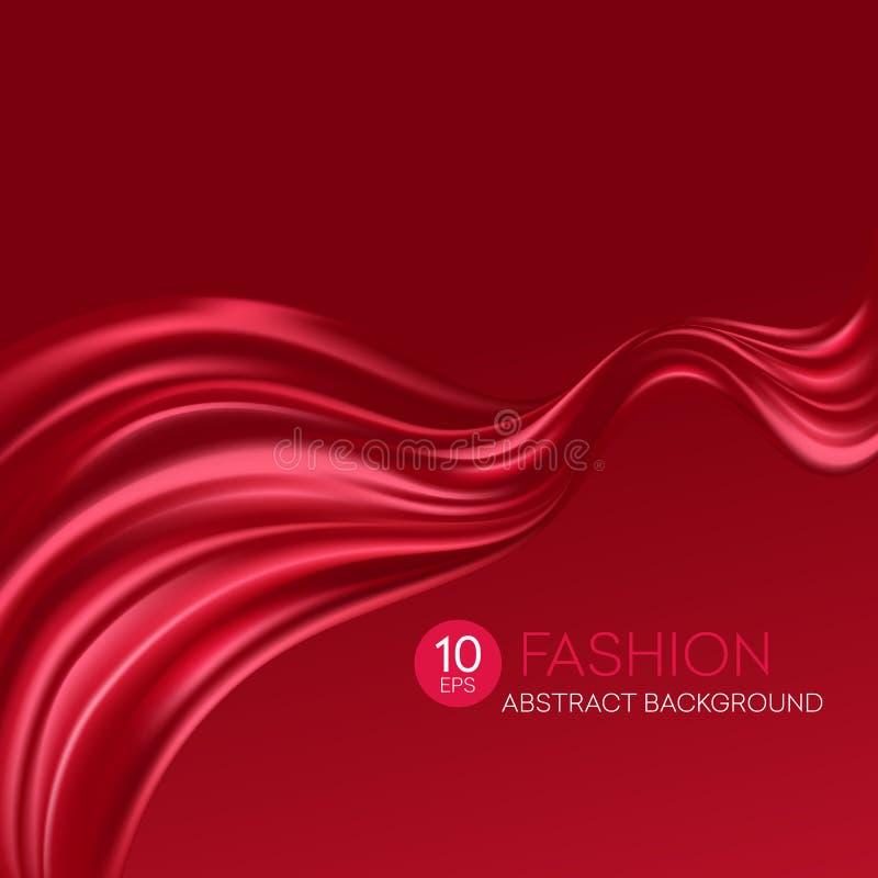 Siden- tyg för rött flyg skärm för efterföljd för bakgrundsdatormode också vektor för coreldrawillustration royaltyfri illustrationer