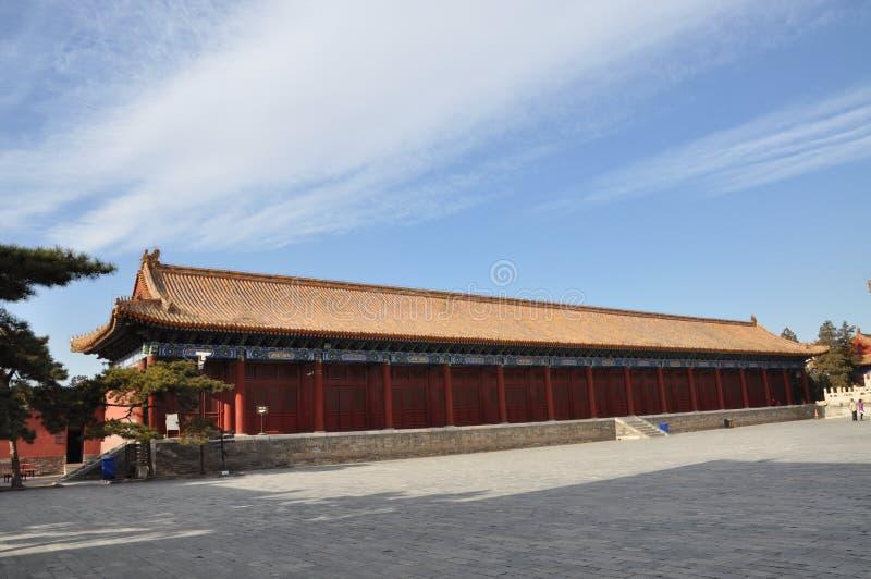 Sideroomen av den släkt- korridoren i Qing dynasti royaltyfria bilder