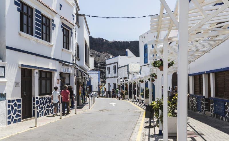 Sidestreet at Puerto de las Nieves, on Gran Canaria. stock images