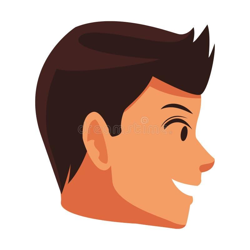 Sideview de la cara del hombre libre illustration