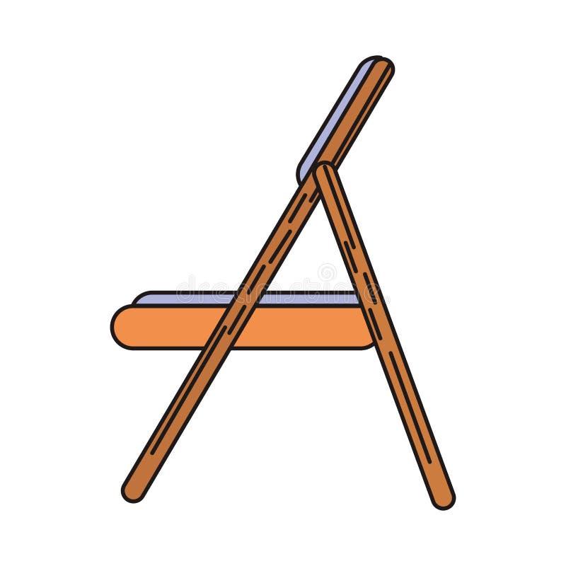 Sideview de madeira da cadeira isolado ilustração do vetor