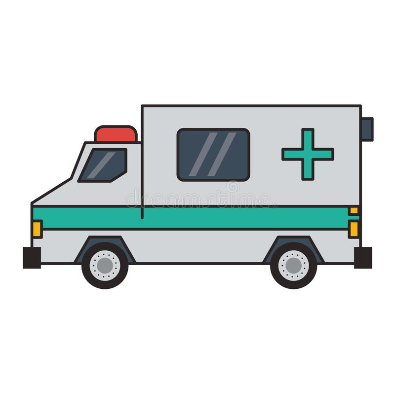 Sideview de v?hicule de secours d'ambulance illustration libre de droits