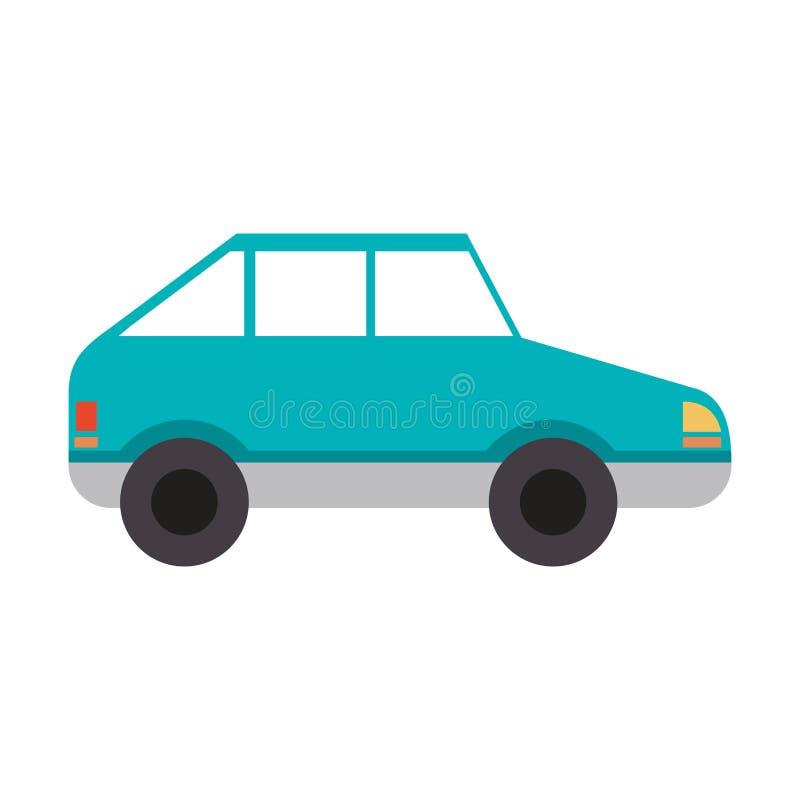 Sideview de véhicule de voiture de coupé illustration de vecteur