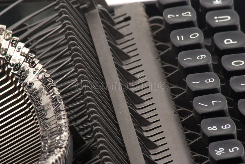 Download Sideview of old typewriter stock photo. Image of black - 18460938