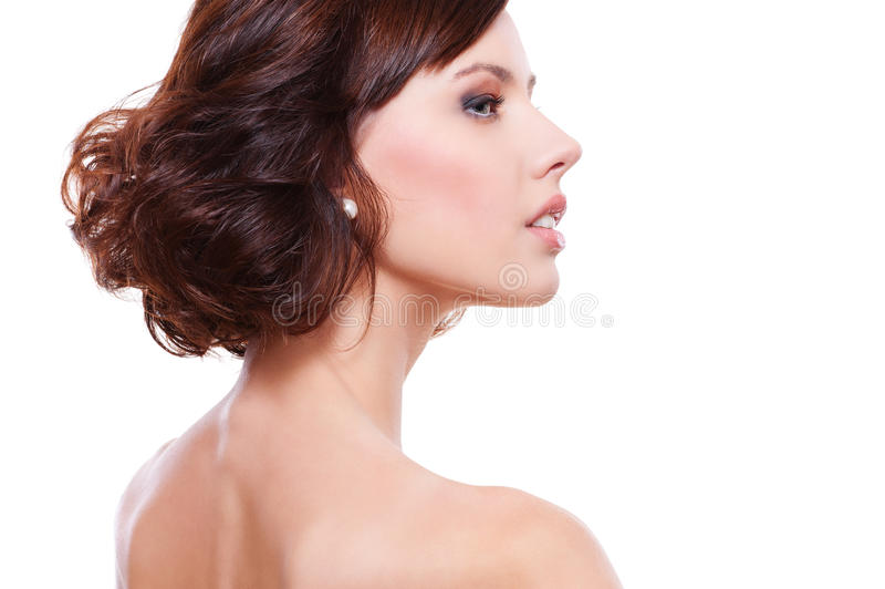 Download Sideview Portrait Of Young Alluring Woman Stock Photo - Image: 22276992
