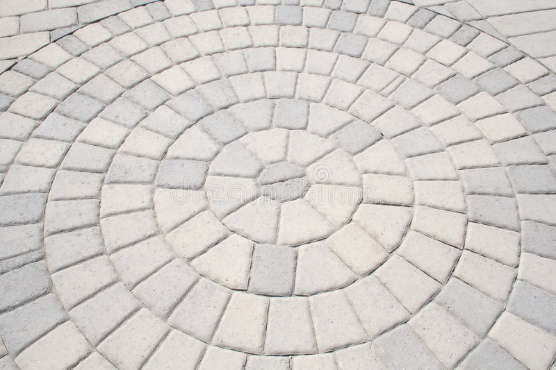 Sidewalk Abstract. The Abstract Design of a Brick Sidewalk is Displayed royalty free stock photo