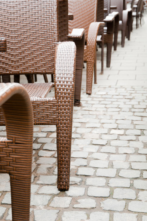 Sidewalk Cafe Chairs Royalty Free Stock Image