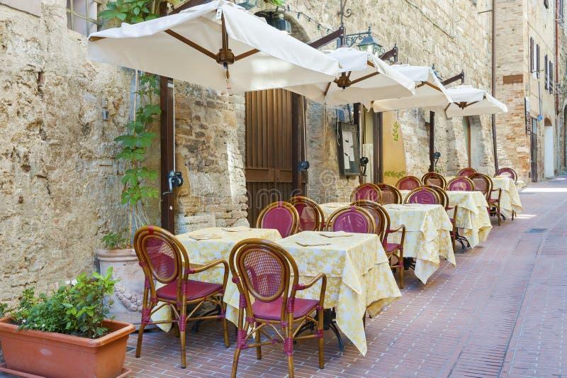 Sidewalk cafe royalty free stock images