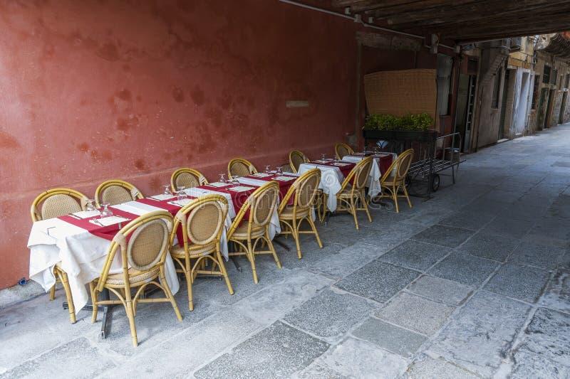 Sidewalk cafe stock image