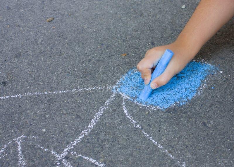 Download Sidewalk Chalk. stock image. Image of painted, road, creativity - 13994451