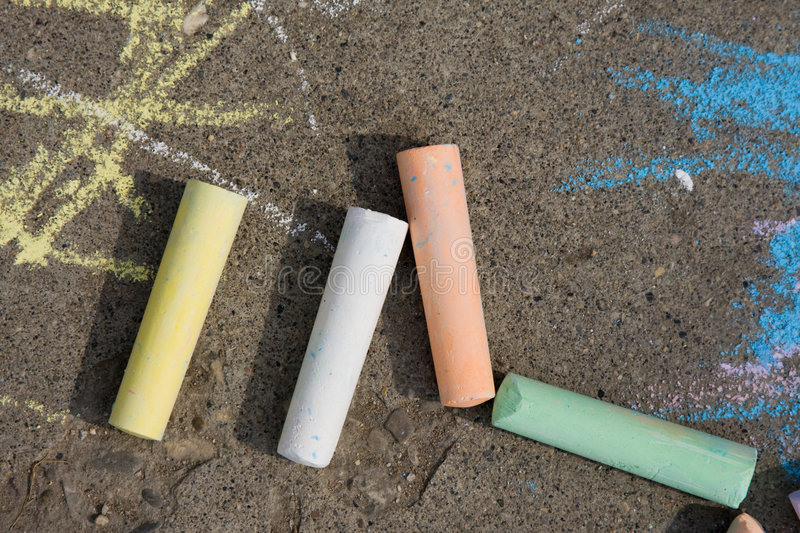 Sidewalk chalk royalty free stock photos
