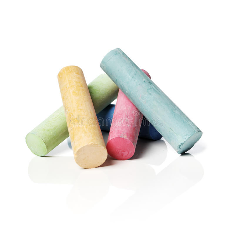 Sidewalk chalks royalty free stock photography