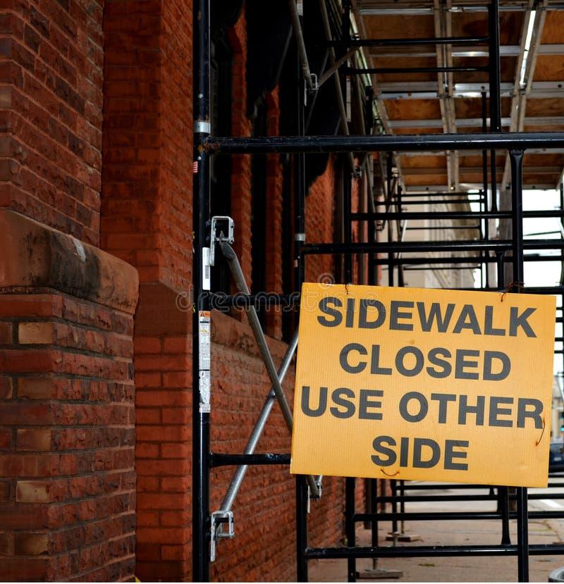 Download Sidewalk Closed stock image. Image of forbid, municipal - 28082809