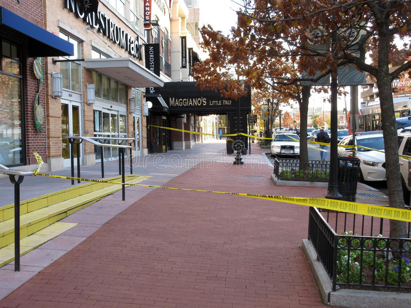 Sidewalk Closed at Maggiano`s Restaurant royalty free stock images