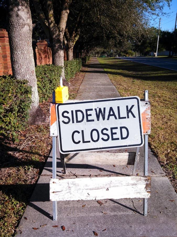 Sidewalk Closed royalty free stock image