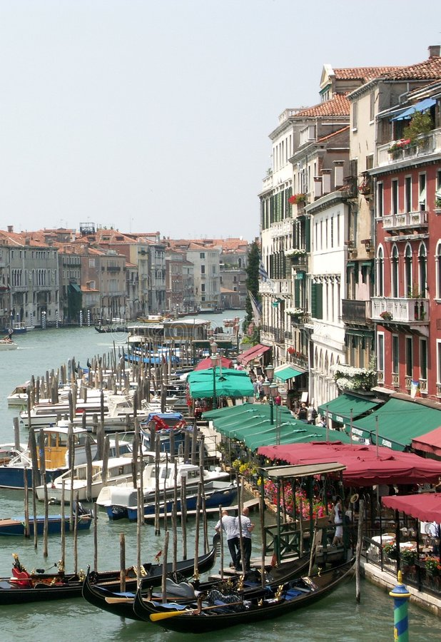Download Sidewalk on Grand Canal stock image. Image of sidewalk, venice - 79333