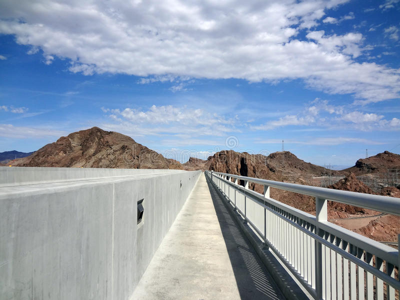 Sidewalk On The Hoover Dam Bypass Bridge Royalty Free Stock Images