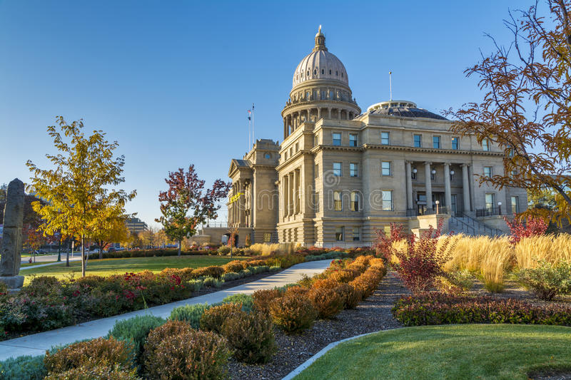 Download Sidewalk Leads To The Idaho State Capital Stock Photo - Image: 36706402