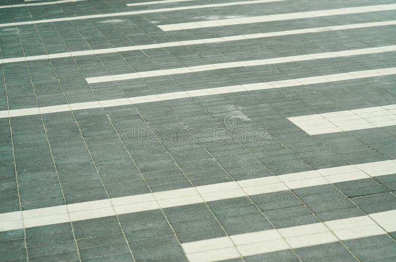 Sidewalk made up of bricks royalty free stock photo
