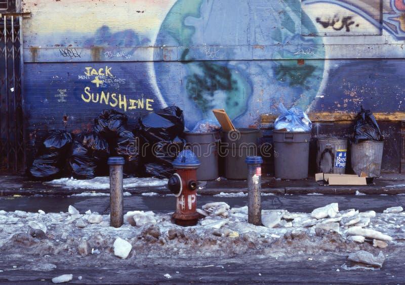 Sidewalk of New York royalty free stock image