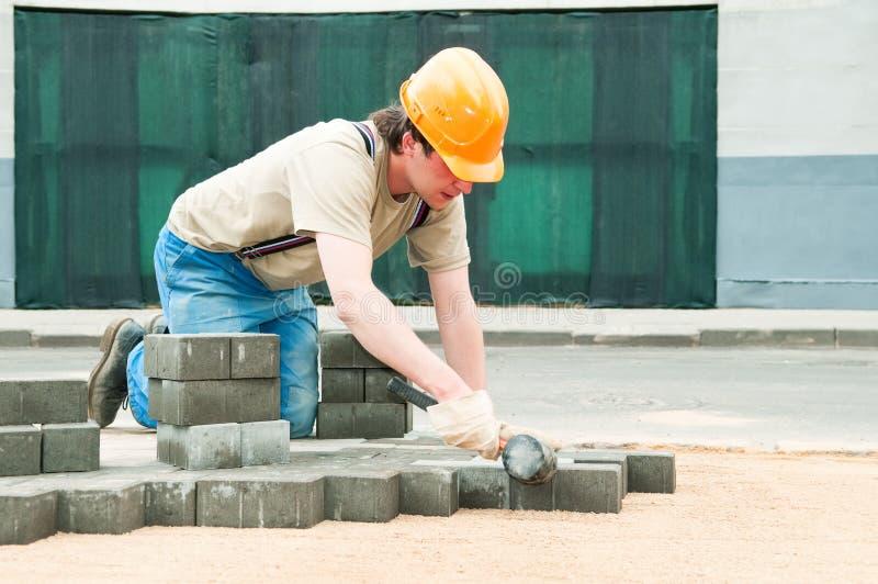 Sidewalk pavement construction stock photography