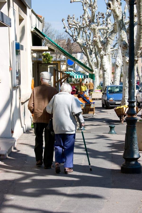 Sidewalk pedestrians royalty free stock images