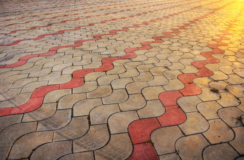 Download Sidewalk Pile Pattern In Sunset - HDR Picture Stock Photo - Image: 10964348