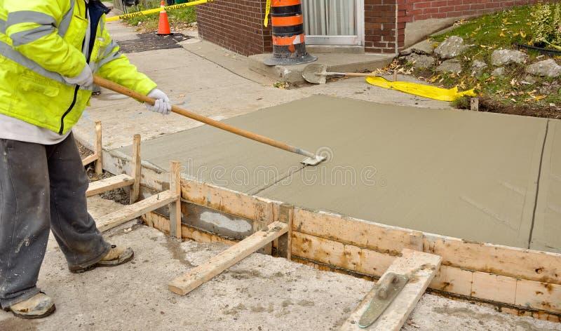 Sidewalk reconstruction stock photos