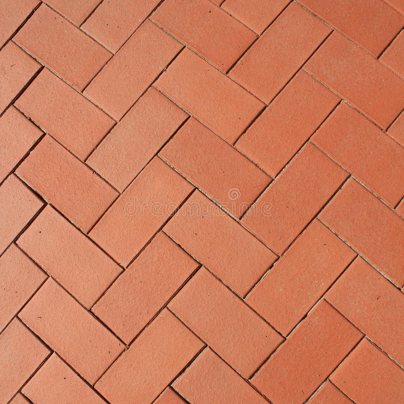 Sidewalk from red bricks stock photos