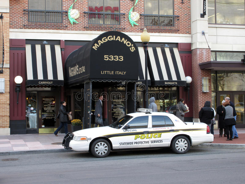 Sidewalk Reopened at Maggiano`s Restaurant stock photos