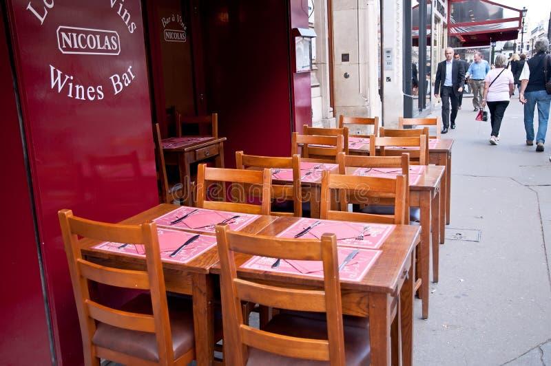 Sidewalk restaurant in Paris stock image