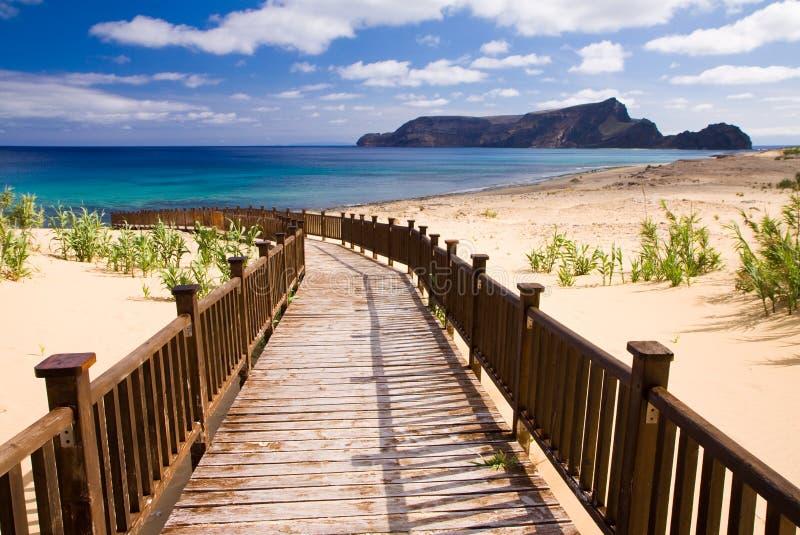 Sidewalk to the beach stock photos
