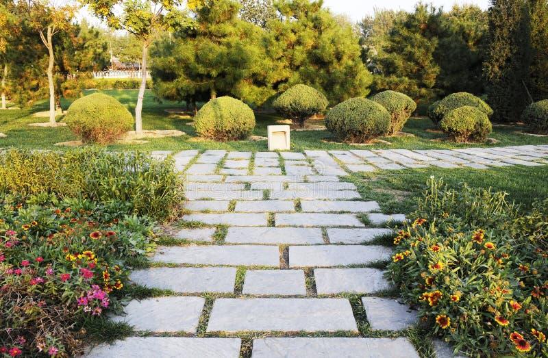 Sideway com pedra foto de stock royalty free