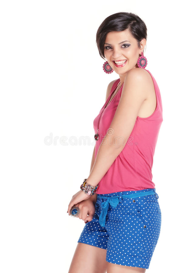 Download Sideways smile stock photo. Image of text, polka, beauty - 25231196