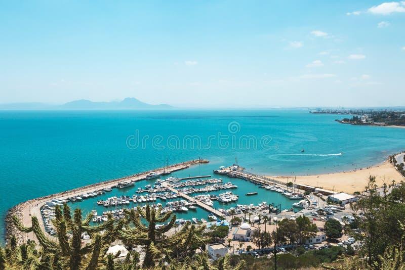 Sidi сказанное Bou, Тунис стоковое фото