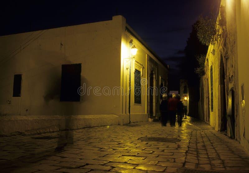 Sidi Bou dicho en la oscuridad Túnez imagen de archivo libre de regalías