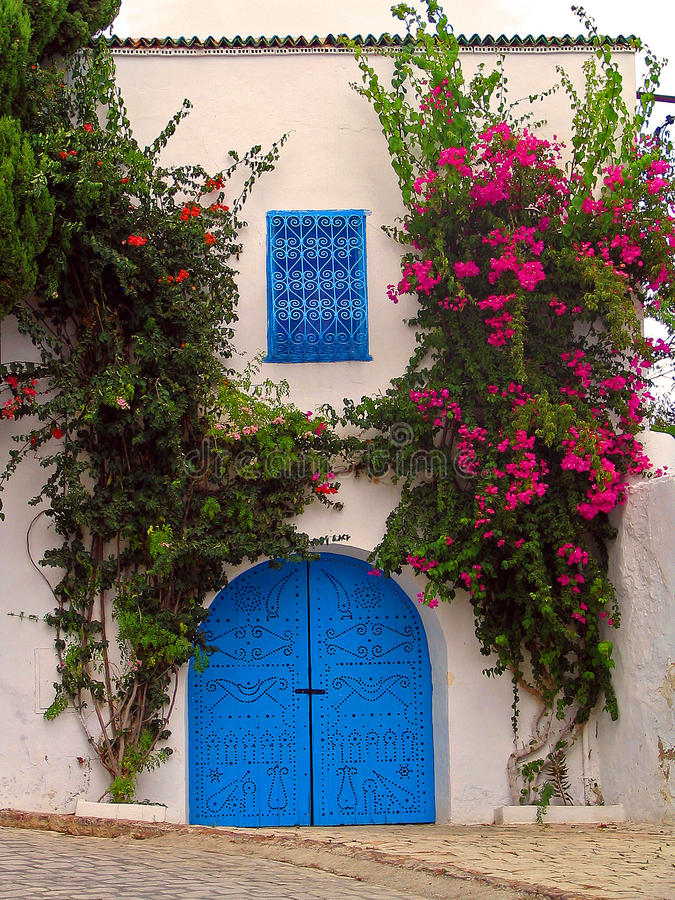 Sidi Bou dicho - Túnez imagen de archivo