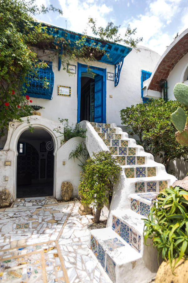 Sidi Bou dicho, Túnez imagen de archivo