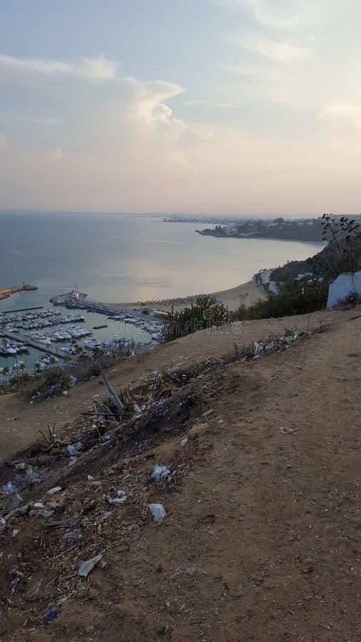 Sidi Bou sade royaltyfria foton