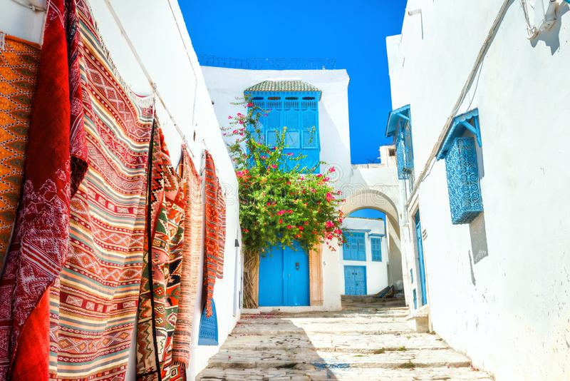 Sidi Bou Said Tunesië, Noord-Afrika royalty-vrije stock fotografie