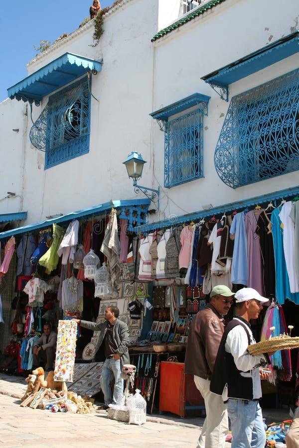 Sidi Bovengenoemde Bou, Tunesië royalty-vrije stock foto