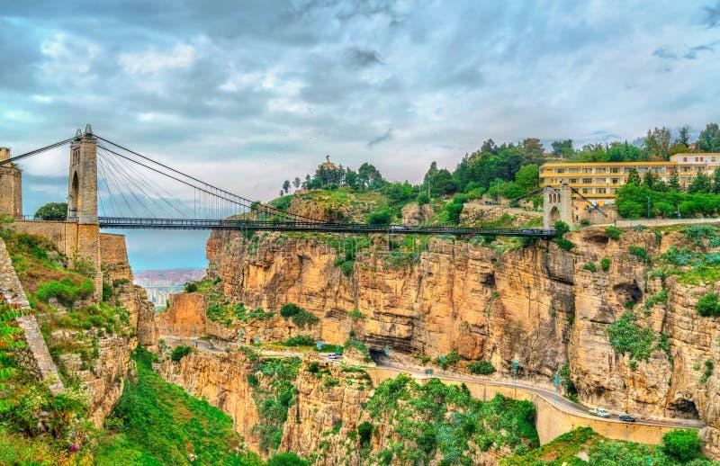 Sidi M`Cid Bridge across the Rhummel River in Constantine, Algeria. Sidi M`Cid Bridge across the Rhummel River Canyon in Constantine - Algeria, North Africa stock photos